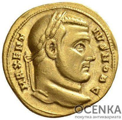 Золотой ауреус, Цезарь Марк Аврелий Валерий Максенций Август, 306-312 год