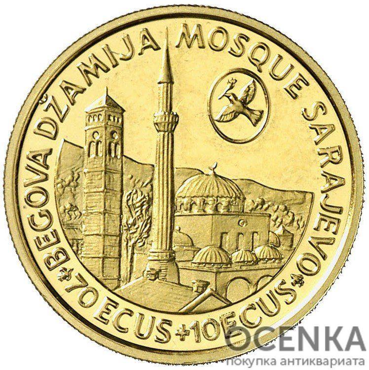 Золотая монета 70 Экю (70 Ecus) Босния и Герцеговина