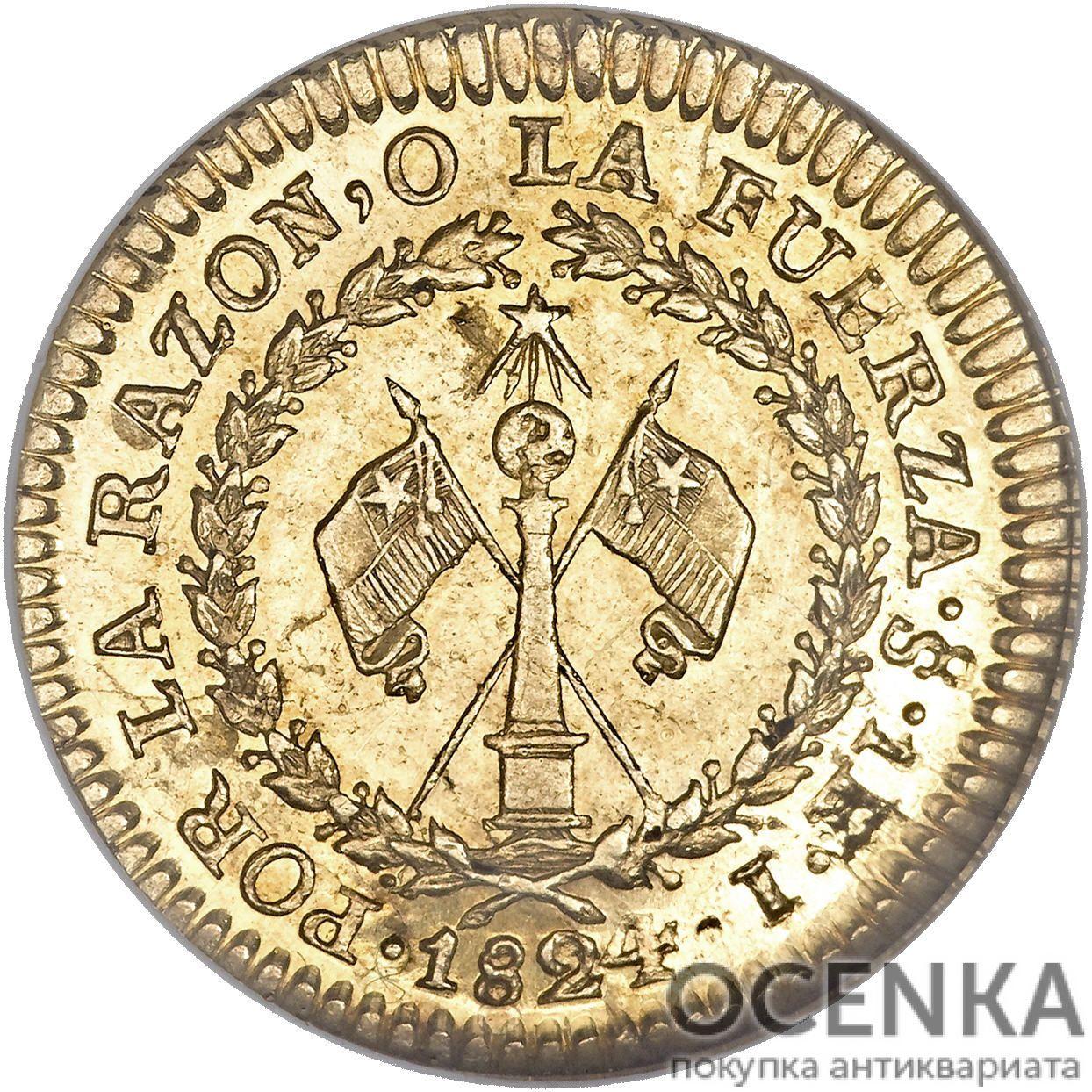 Золотая монета 1 Эскудо (1 Escudo) Чили - 4
