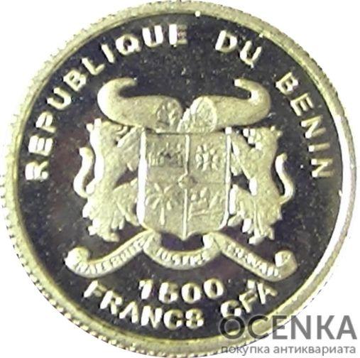 Золотая монета 1500 Франков Бенина - 4