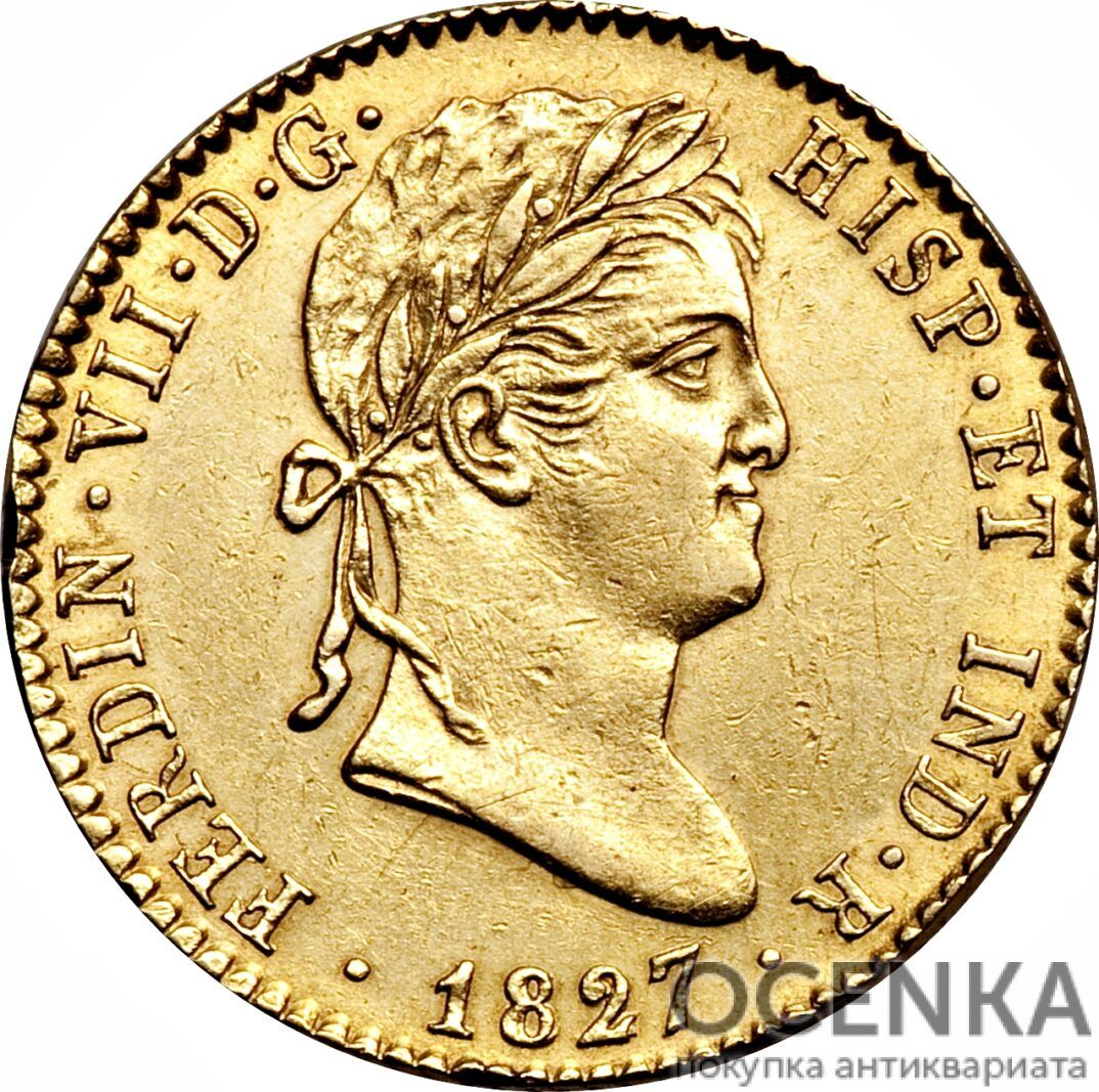 Золотая монета 2 Эскудо (2 Escudos) Испания - 9