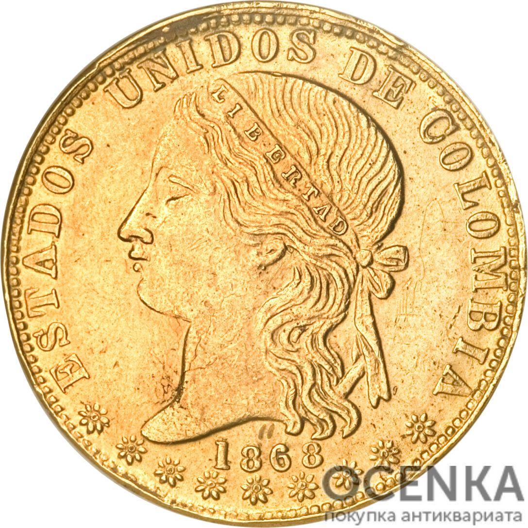Золотая монета 20 Песо (20 Pesos) Колумбия - 1