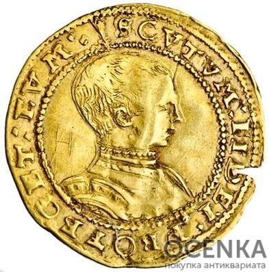 Золотая монета 1 Crown (крона) Великобритания - 4