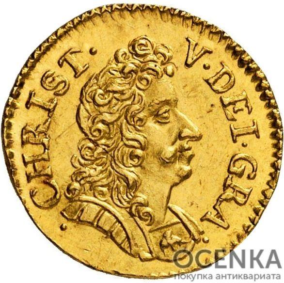 Золотая монета 2 Дуката (2 Ducats, Dukater) Дания - 7