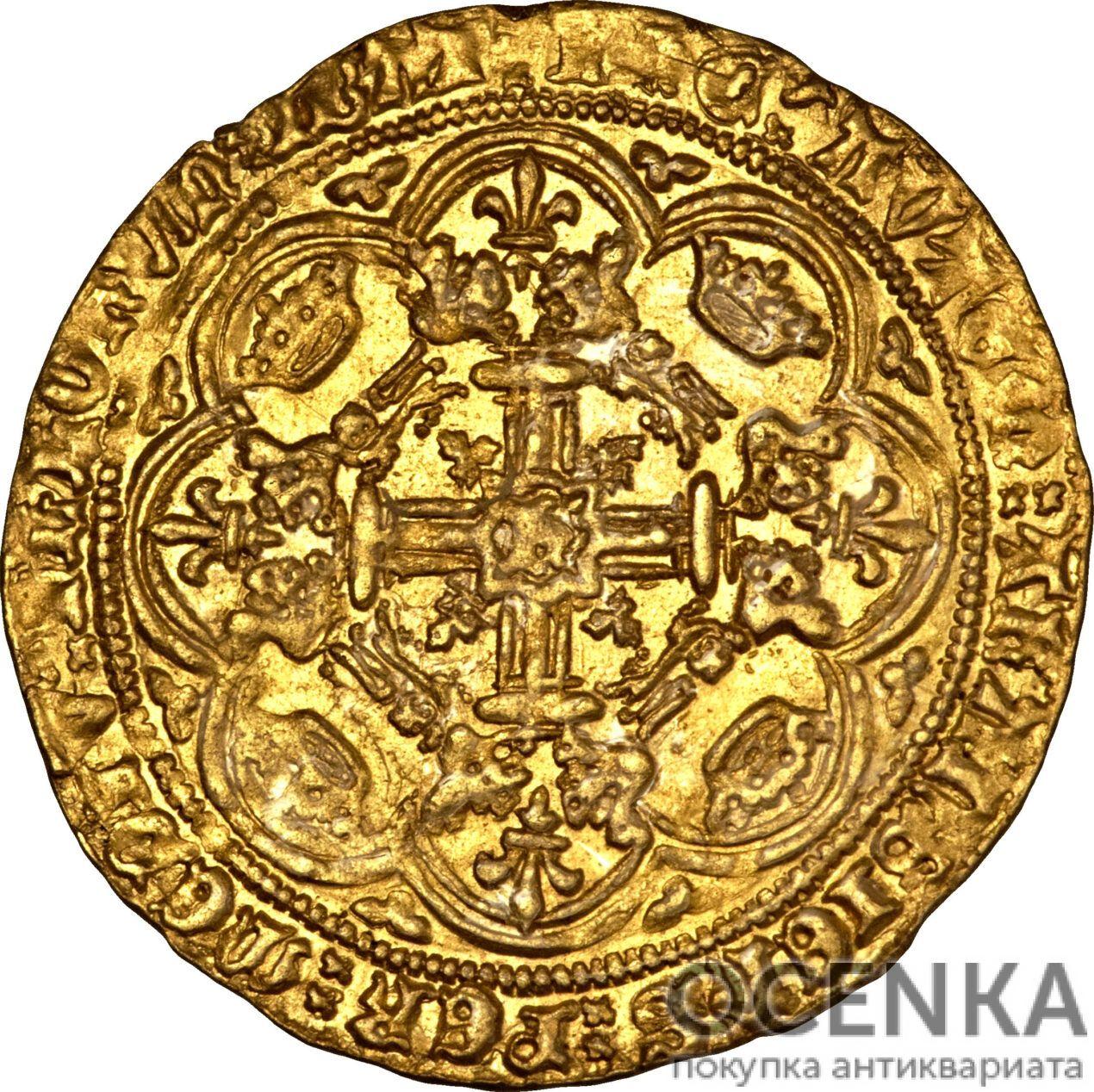 Золотая монета 1 Noble (нобль) Великобритания - 5
