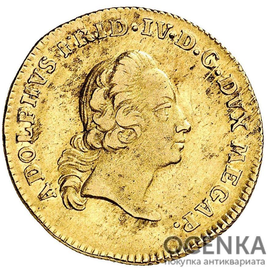 Золотая монета 1 Пистоль Германия - 3