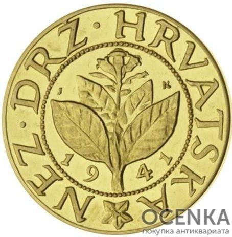 Золотая монета 25 Баниц (25 Banica) Хорватия - 1