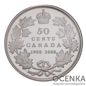 Серебряная монета 50 Центов Канады