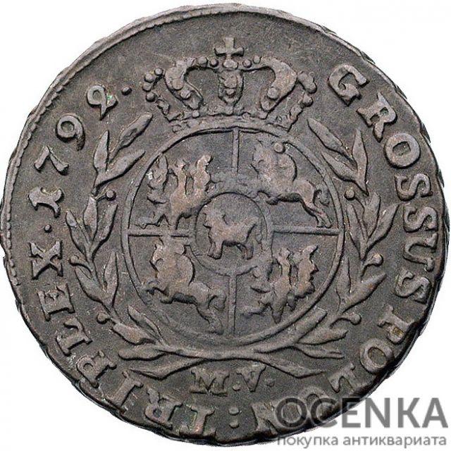 Серебряная монета Трояк (3 гроша) Средневековой Польши - 4