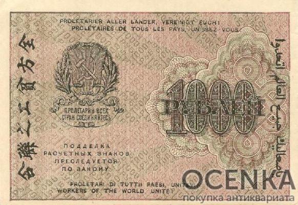 Банкнота РСФСР 1000 рублей 1919-1920 года - 1