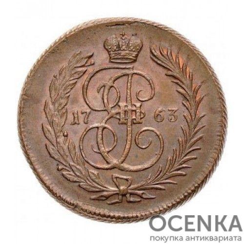 Медная монета 1 копейка Екатерины 2 - 1