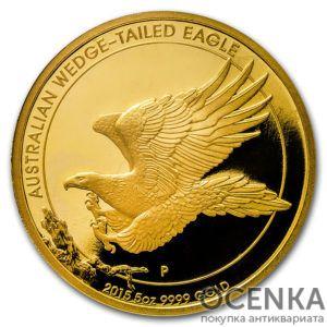 Золотая монета 500 долларов 2015 год. Австралия. Клиновидный орел