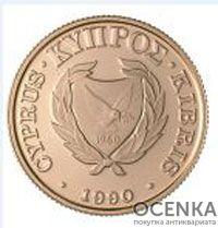 Золотая монета 20 Фунтов (20 Pounds) Кипр - 3