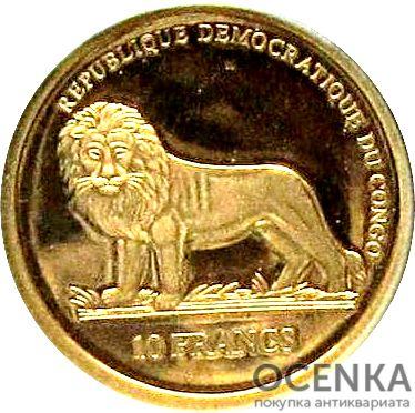 Золотая монета 10 Франков (10 Francs) Конго - 2