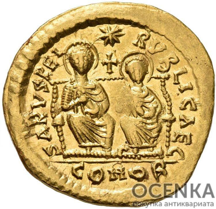 Золотой солид Византии, Флавий Лев II Юниор, 473-474 год - 1