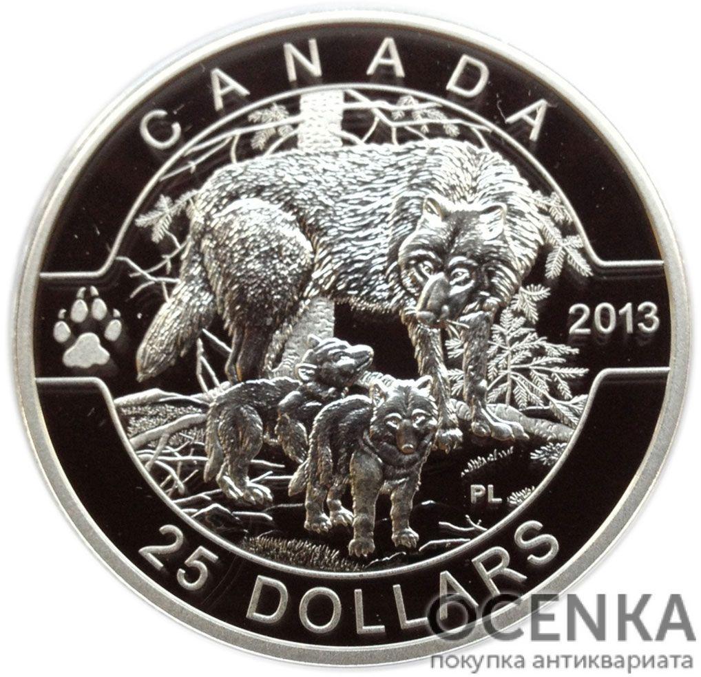 Серебряная монета 25 Долларов Канады - 6
