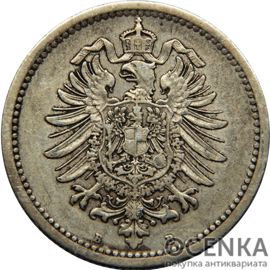 Серебряная монета 50 Пфеннигов (50 Pfennig) Германия - 1