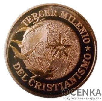Золотая монета 2000 Песо (2000 Pesos) Доминикана - 1