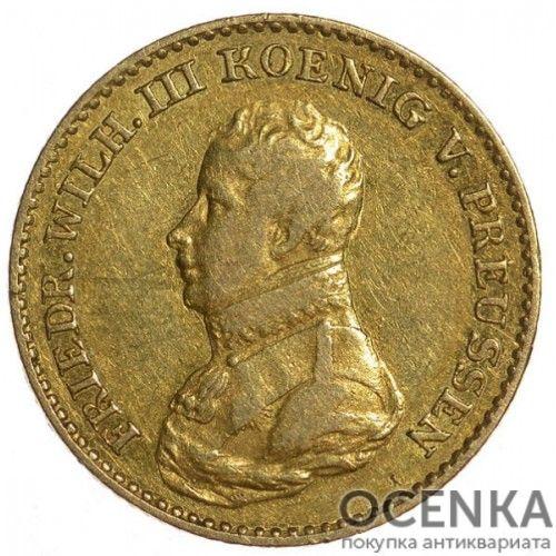 Золотая монета 1 Фридрихсдор Германия