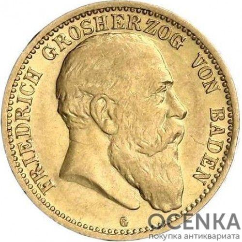 Золотая монета 10 Марок Германия - 3