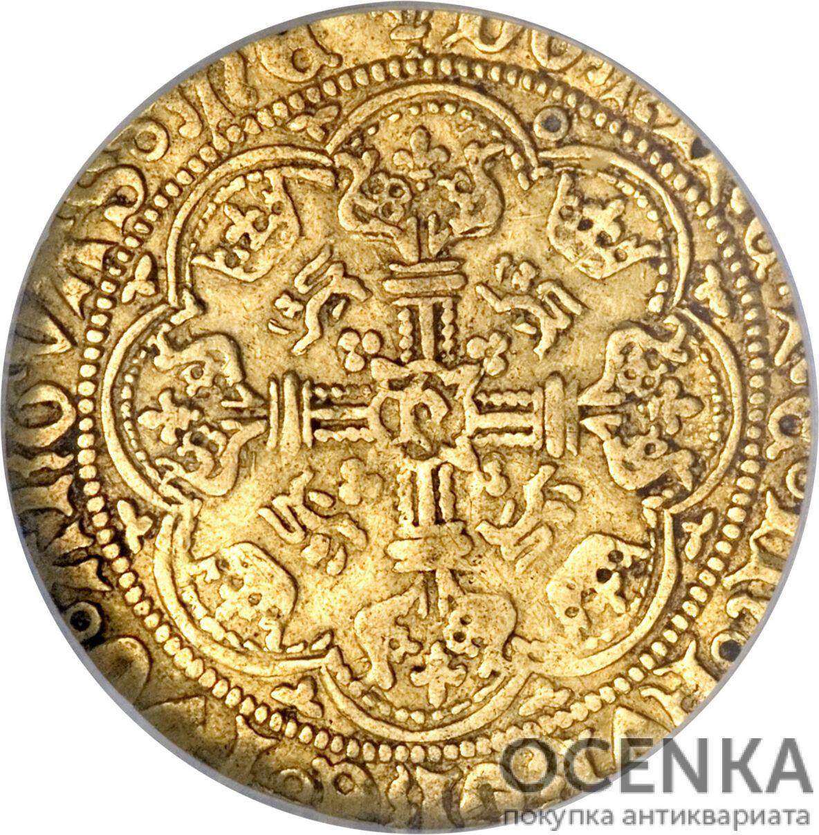 Золотая монета ½ Noble (1/2 нобля) Великобритания - 4