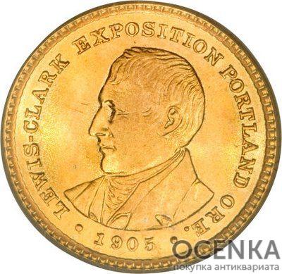 Золотая монета 1 Dollar (доллар) США - 6