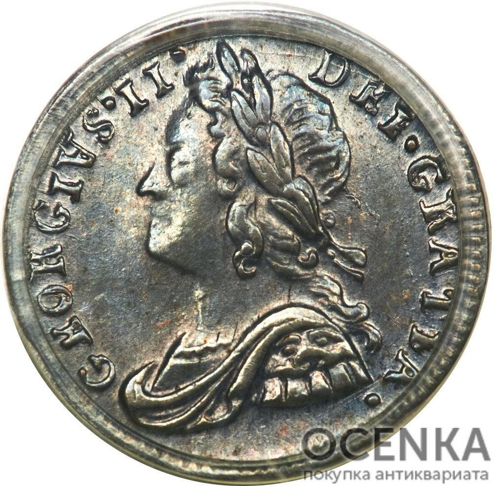 Серебряная монета 1 Пенни (1 Penny) Великобритания - 1