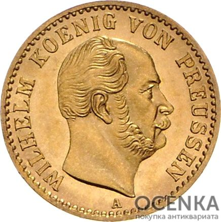 Золотая монета ½ Кроны Германия - 5