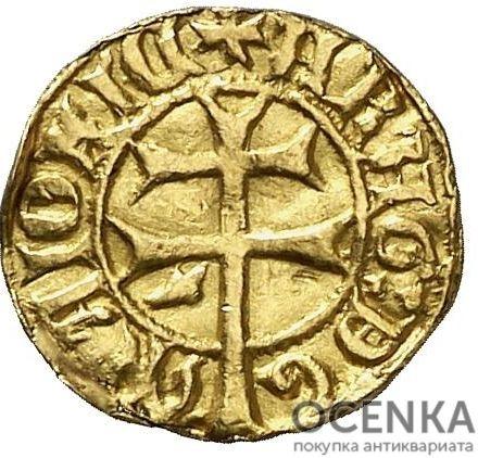 Золотая монета ⅛ Реала (⅛ Real) Испания