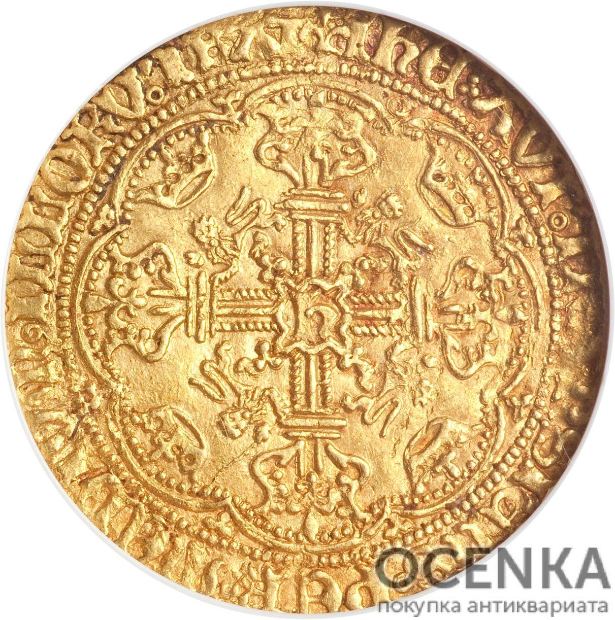 Золотая монета 1 Noble (нобль) Великобритания - 9