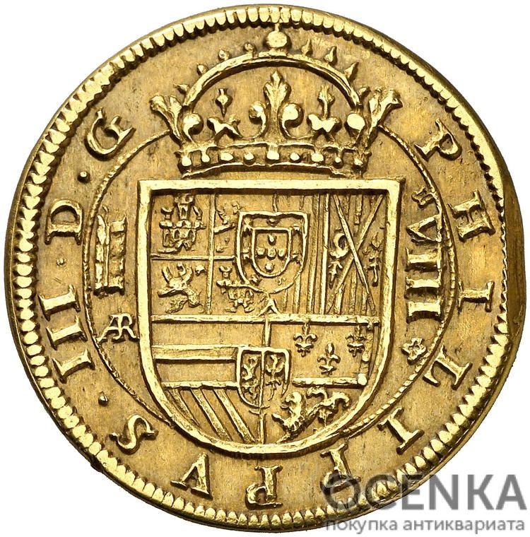Золотая монета 8 Эскудо (8 Escudos) Испания - 1