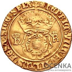 Золотая монета 1 Crown (крона) Великобритания - 2