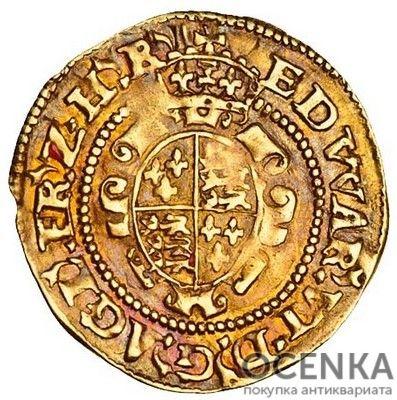 Золотая монета ½ Crown (полкроны) Великобритания