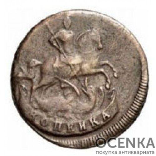 Медная монета 1 копейка Елизаветы Петровны - 5