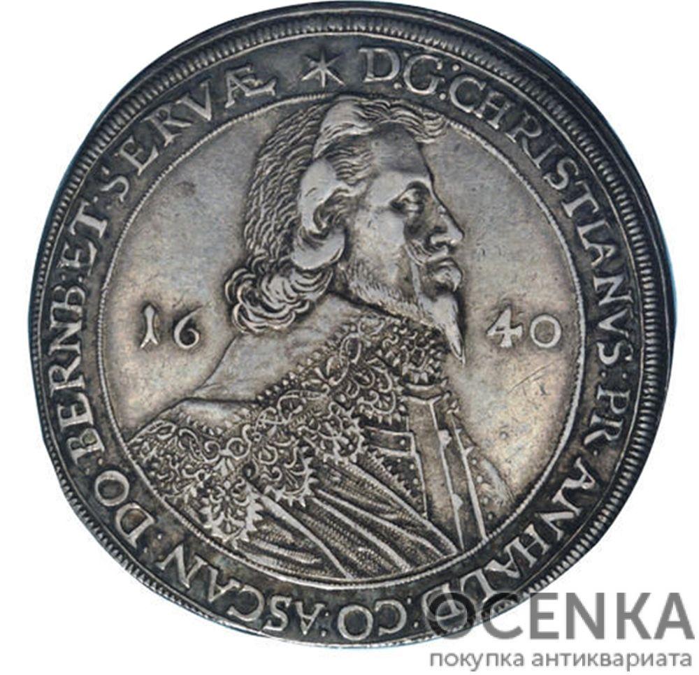 Серебряная монета Талер Средневековой Германии - 3
