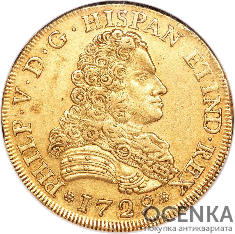 Золотая монета 8 Эскудо (8 Escudos) Испания - 5