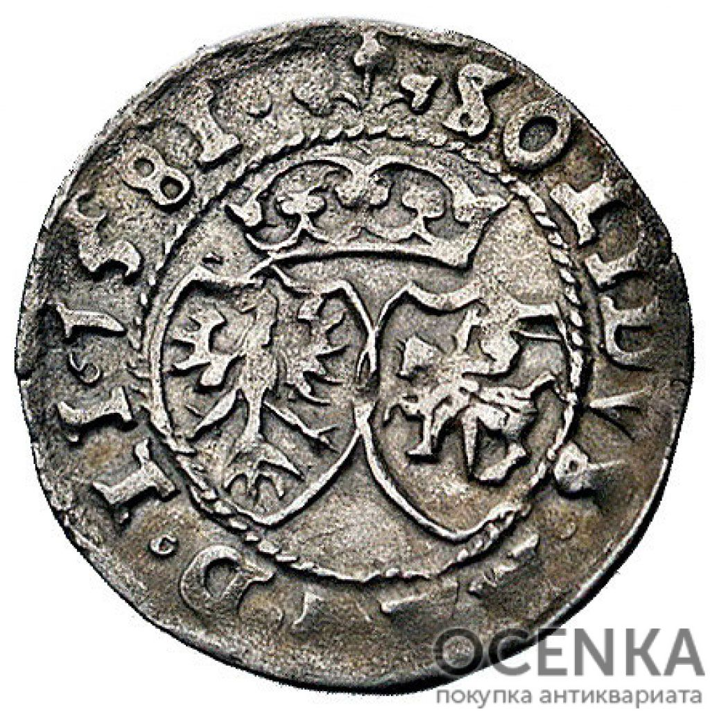 Серебряная монета Шеляг (1/3 Гроша) Средневековой Польши - 1