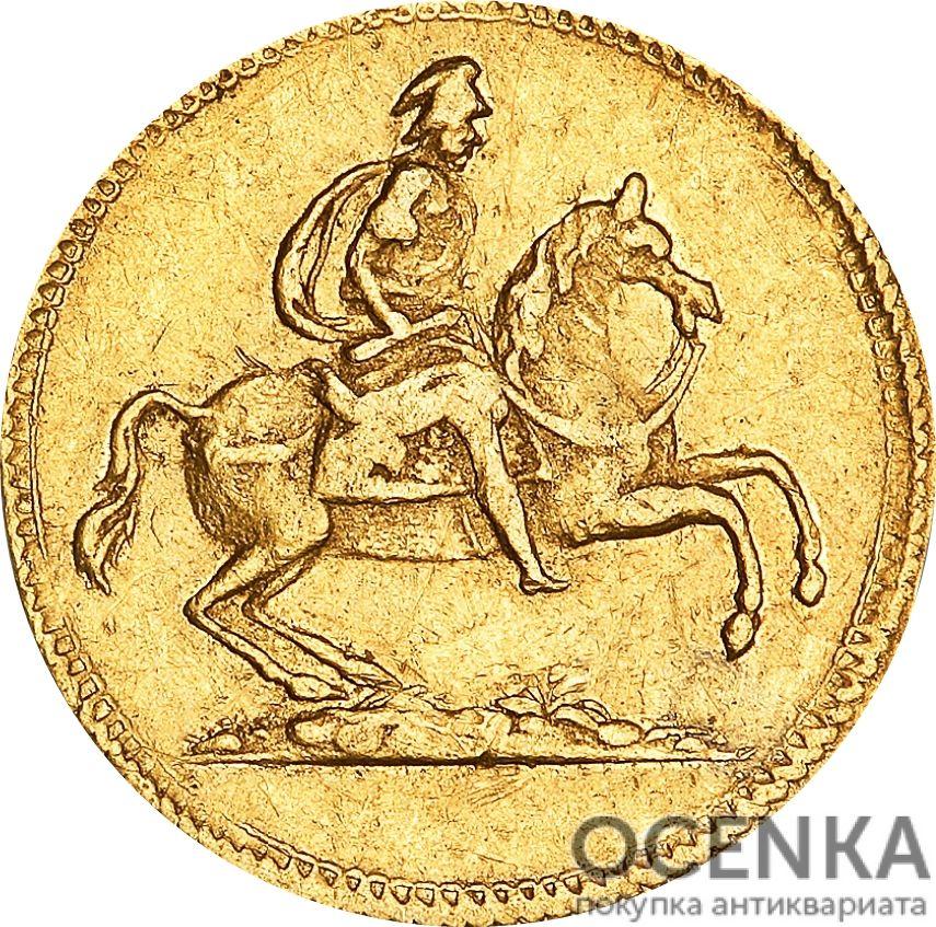 Золотая монета ½ Дуката (½ Ducat) Дания - 3