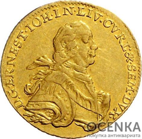 Золотая монета 1 Дукат (1 Dukat) Курляндия - 1