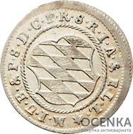 Серебряная монета 2 Крейцера (2 Kreuzer) Германия - 3