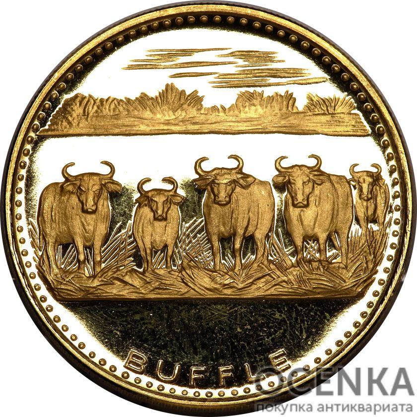 Золотая монета 5000 Франков Бенина - 1