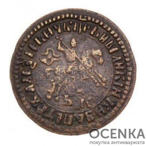 Медная монета 1 копейка Петра 1 - 3