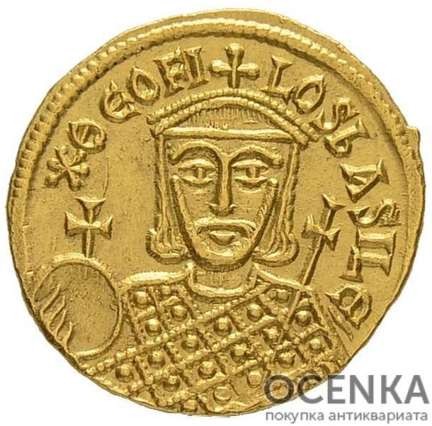 Золотой солид Византии, Феофил, 829-842 год