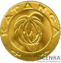 Золотая монета 5 Франков (5 Francs) Конго - 1