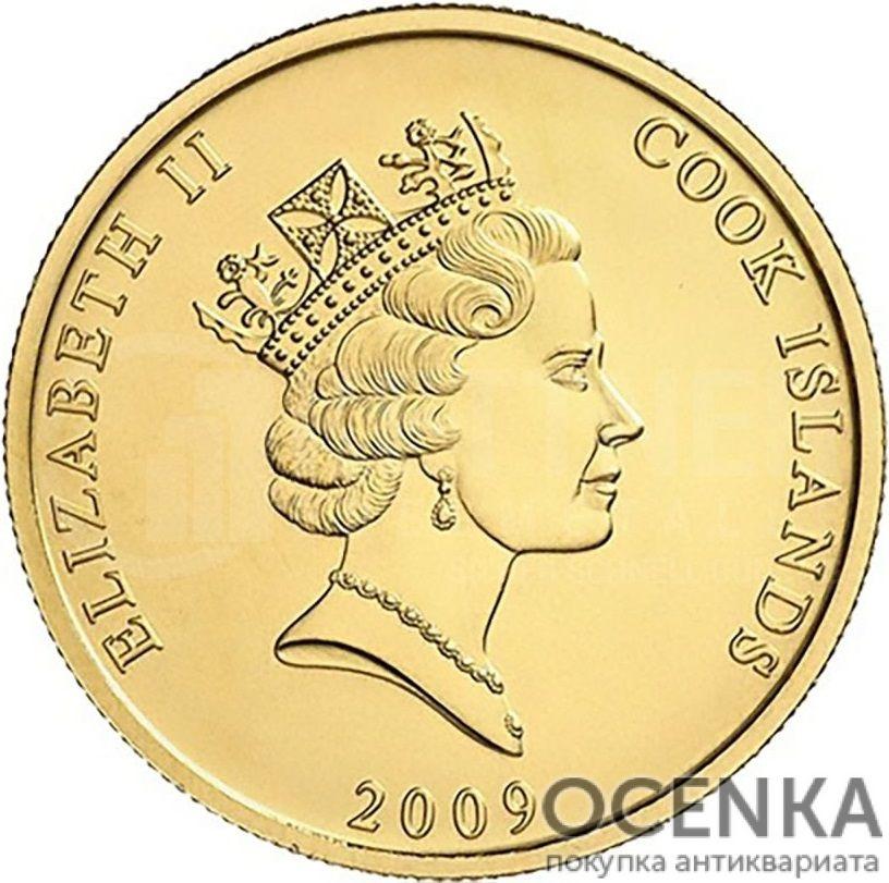 Золотая монета 50 Долларов Островов Кука - 4