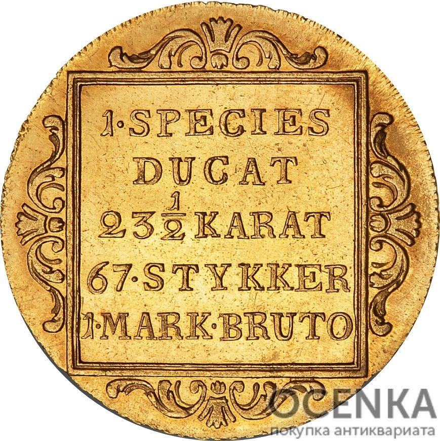 Золотая монета 1 Дукат (1 Ducat) Дания - 8