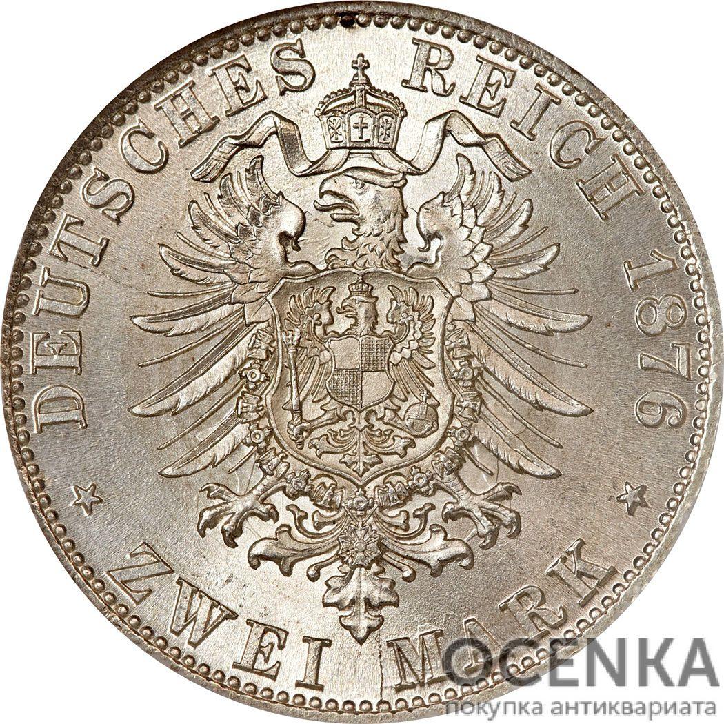 Серебряная монета 2 Марки (2 Mark) Германия - 4