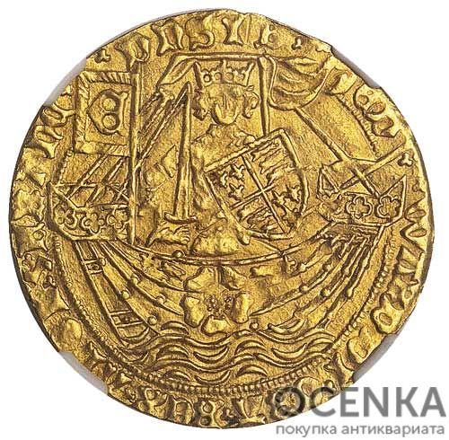 Золотая монета 1 Ryal (райол) Великобритания - 2