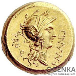 Золотой ауреус, Луций Корнелий Сулла, 82-79 год до н.э.