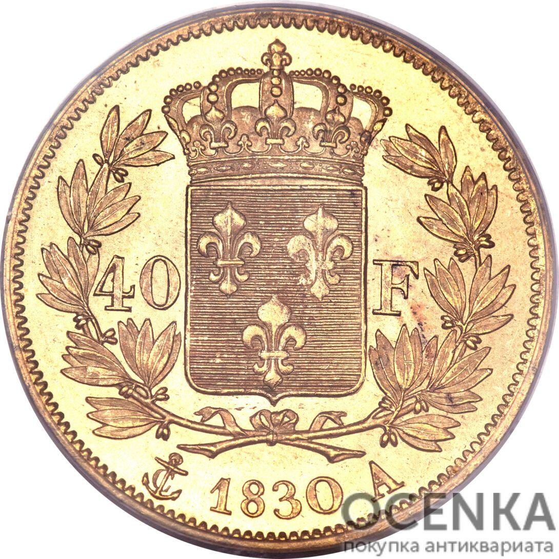 Золотая монета 40 Франков (40 Francs) Франция - 4